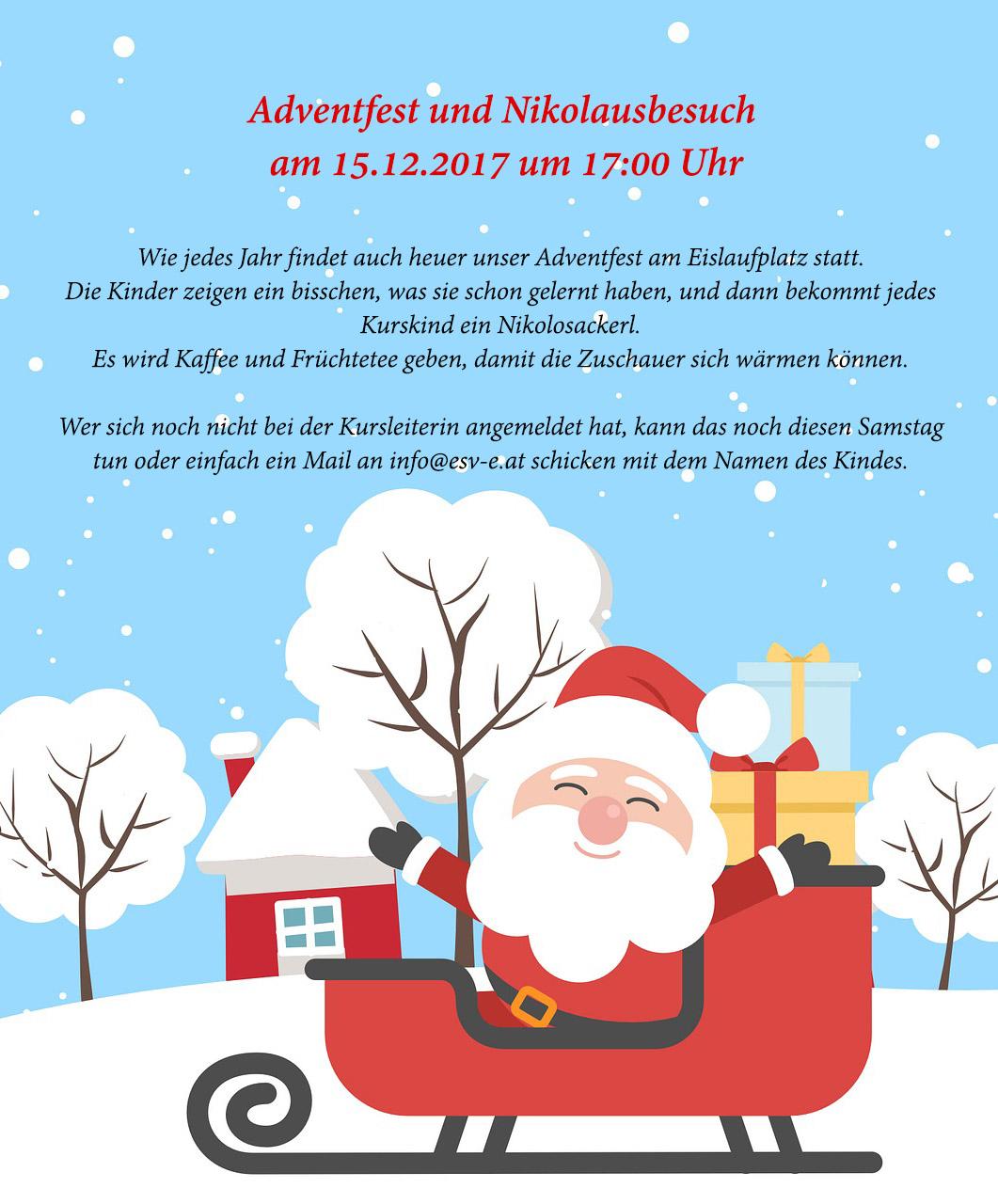 Adventfest und Nikolausbesuch  15.12.2017 um 17:00 Uhr